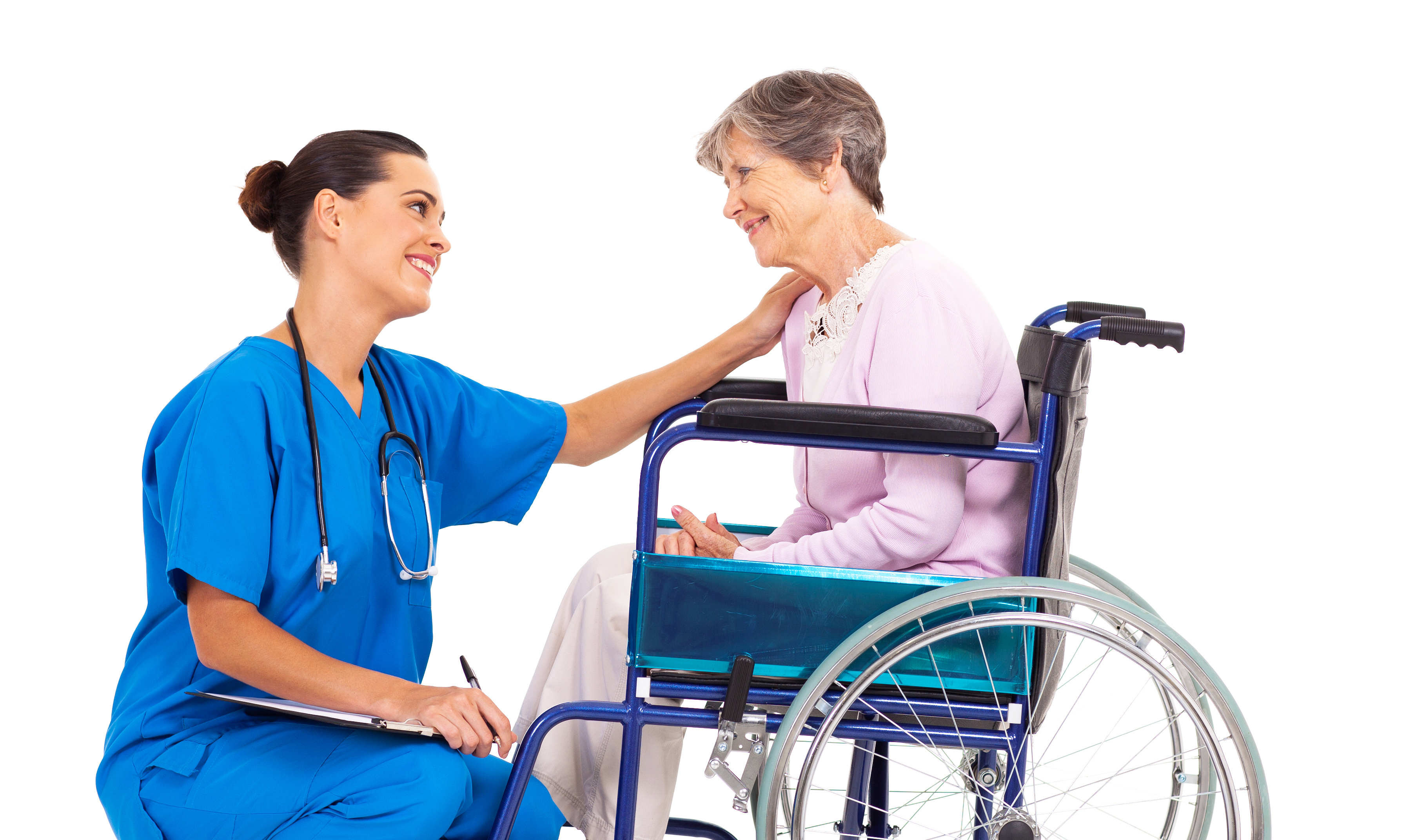 nurses communicate with senior citizens