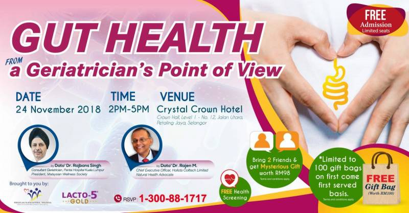 GUT HEALTH from a Geriatrician's Point of View. Talk Nov 2018